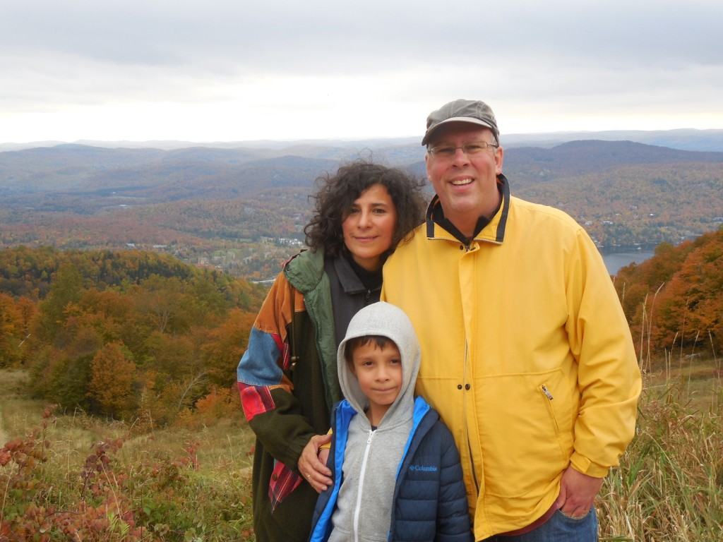 Peak Times! Stephen, Sandy and David Johnson hiked to the top of Mont Tremblant.
