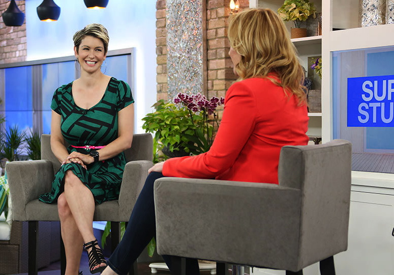 Amanda on the Marilyn Denis Show in June of 2015.