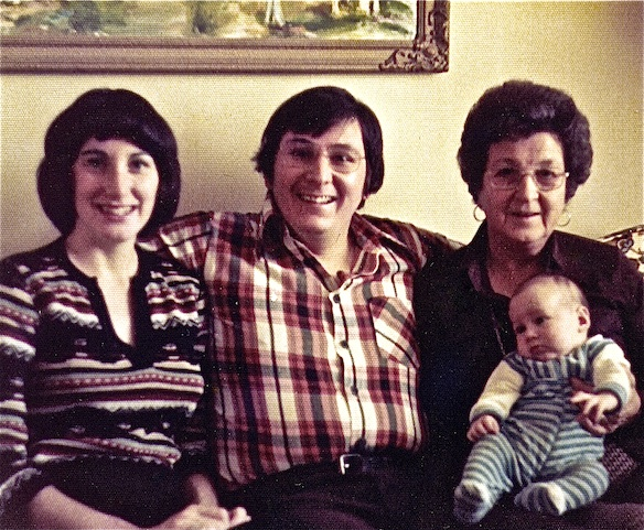 Lynn, Coach, baby Spike and his grandmother, Elsie, back when grandparents were old folks and young parents were completely oblivious to what lay ahead.