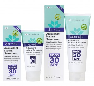 derma e Antioxidant Natural Sunscreens - high-res