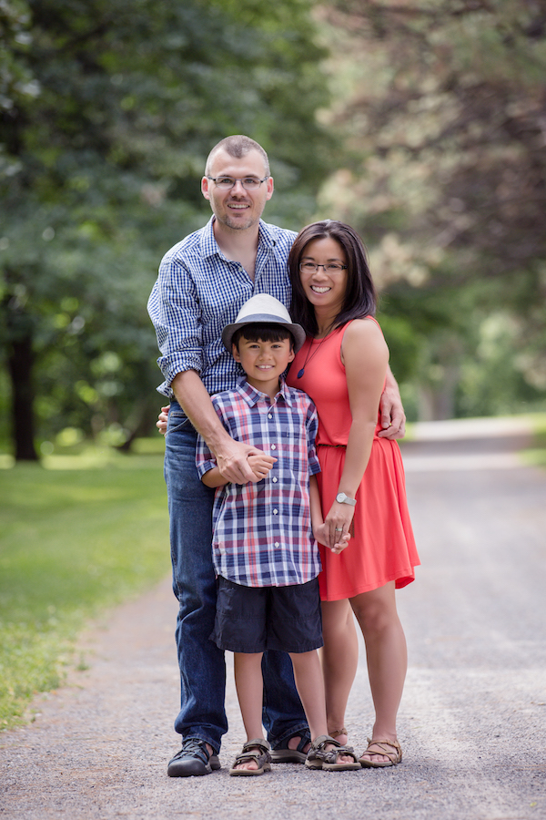 Vivian, Eric and their son Jack. Photo: Sara McConnell Photography